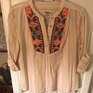Anthropologie holding horses blouse medium EUC